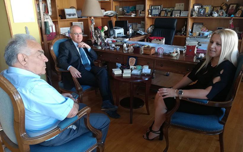 Την Αντιπεριφερειάρχη Μαγνησίας επισκέφθηκε ο ο πρέσβης του Ισραήλ στη χώρα μας