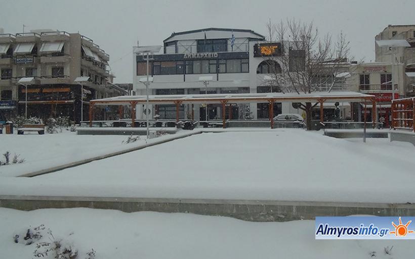 Προετοιμασία φορέων για πλημμύρες και χιόνια στο Δ. Αλμυρού