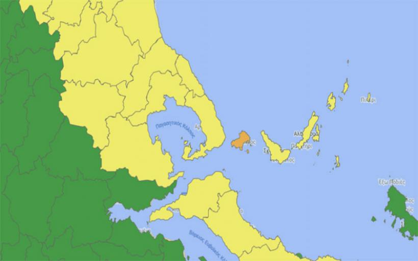Κορωνοϊός: Στο κίτρινο η Μαγνησία, στο πορτοκαλί η Σκιάθος