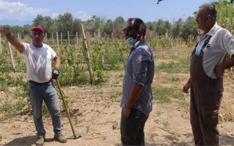 Σε Κρόκιο, Μικροθήβες, Αϊδίνι και Ν. Αγχίαλο για τη χαλαζόπτωση ο Αλ. Μεϊκόπουλος