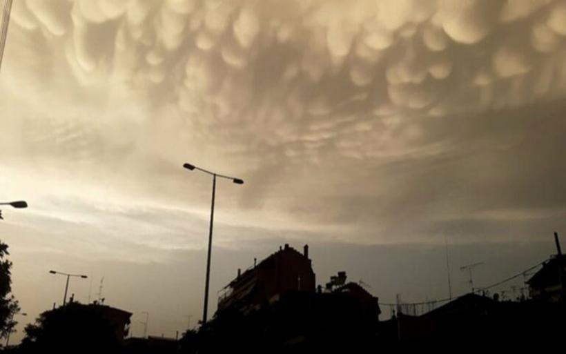 Λάρισα: Σύννεφα Mammatus στον ουρανό της Θεσσαλίας
