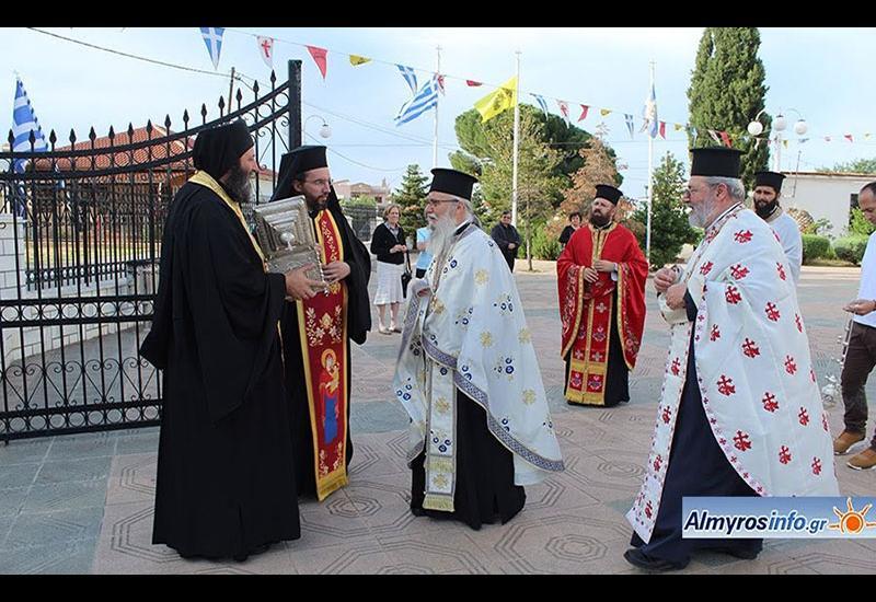 Στον Αλμυρό η Τιμία Κάρα του Αγίου Σεραφείμ Φαναρίου (φωτο)